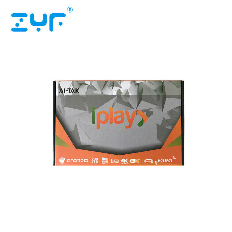 AI TAK Iplay IPTV Box Brasil With No Time Limited Service Account 8 GB ROM