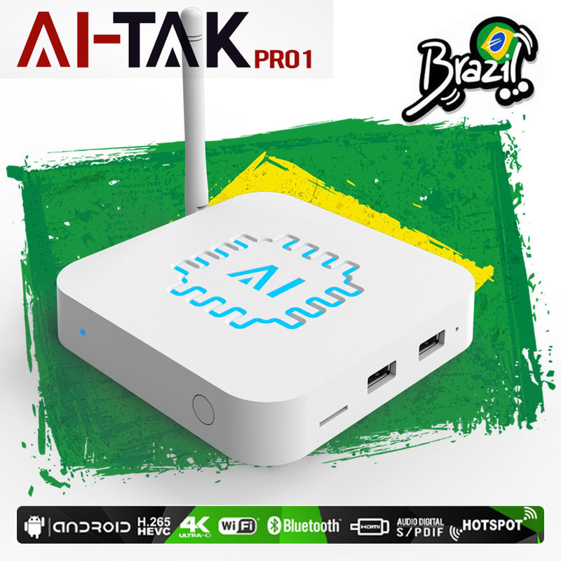 Wholelife Brazilian HTV Internet TV Streaming Box Android 7.1 Rockchip RK3229
